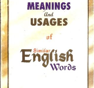 Meaning and Usages of English